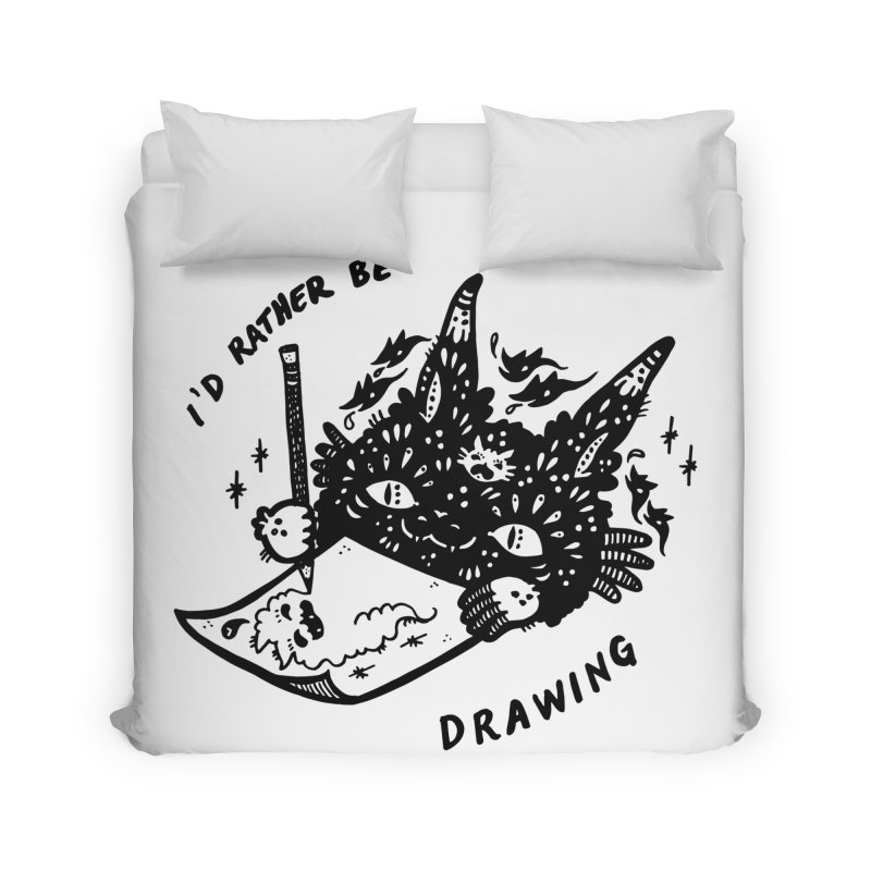 I'd rather be drawing Home Duvet by Haypeep's Artist Shop