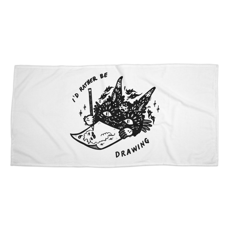 I'd rather be drawing Accessories Beach Towel by Haypeep's Artist Shop