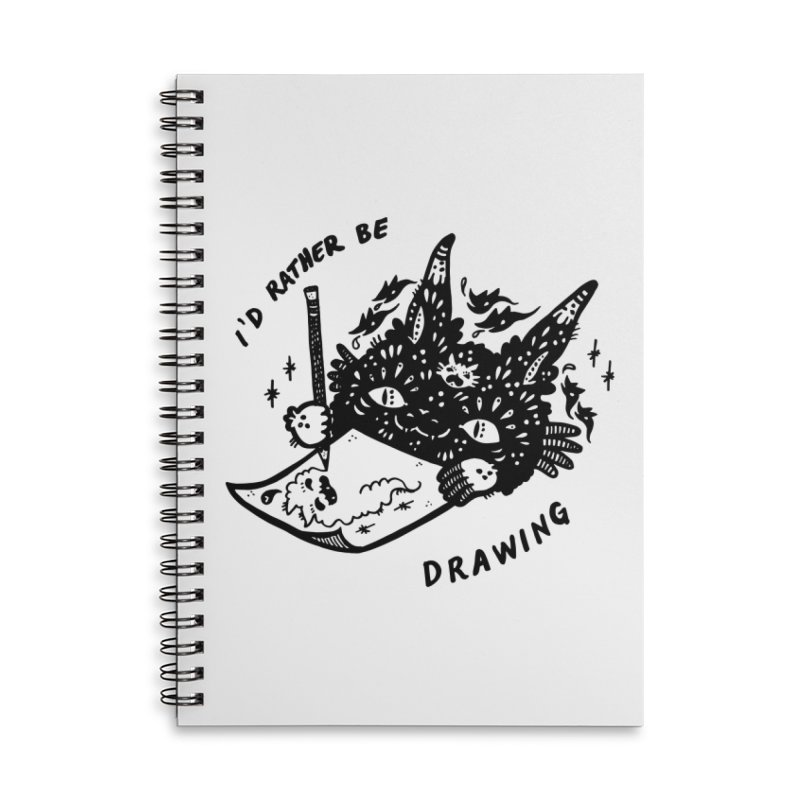 I'd rather be drawing Accessories Lined Spiral Notebook by Haypeep's Artist Shop