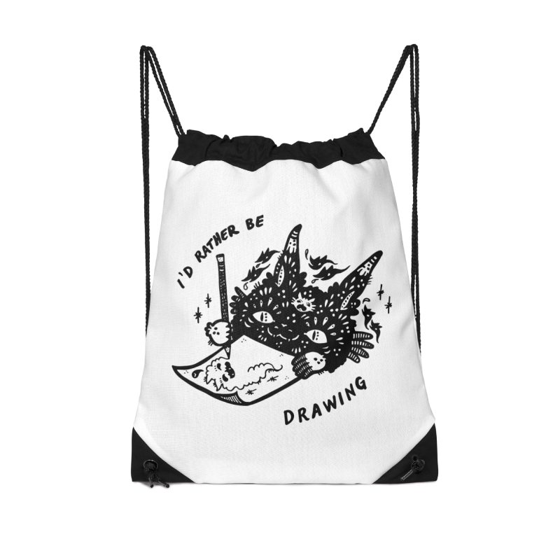 I'd rather be drawing Accessories Drawstring Bag Bag by Haypeep's Artist Shop