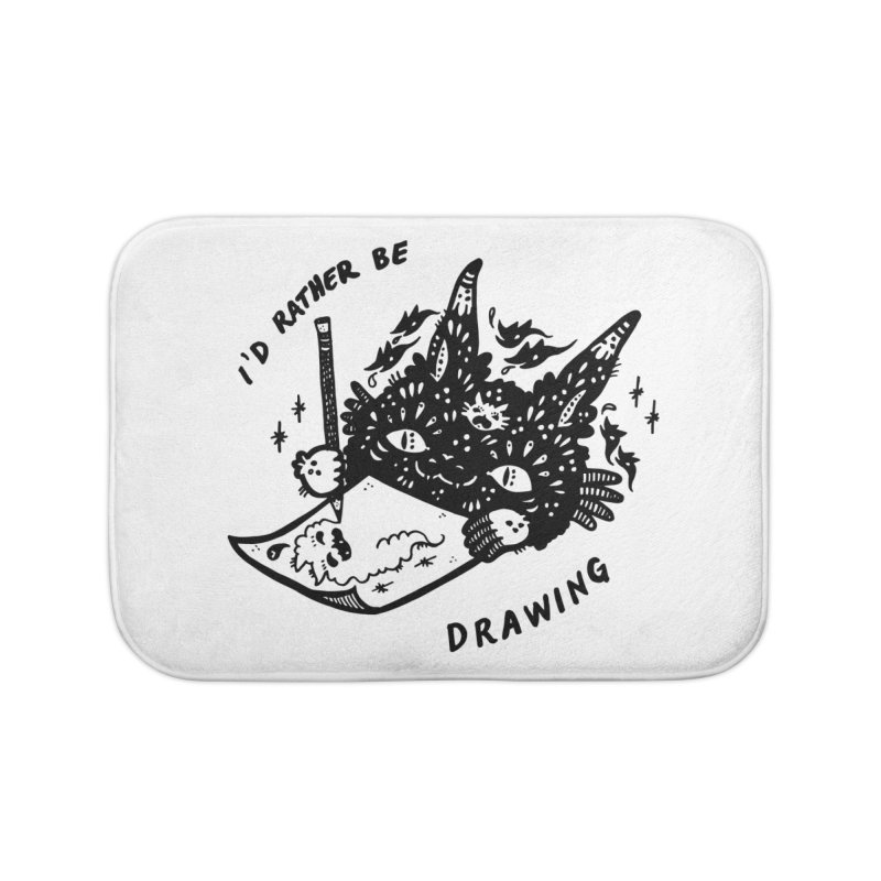 I'd rather be drawing Home Bath Mat by Haypeep's Artist Shop