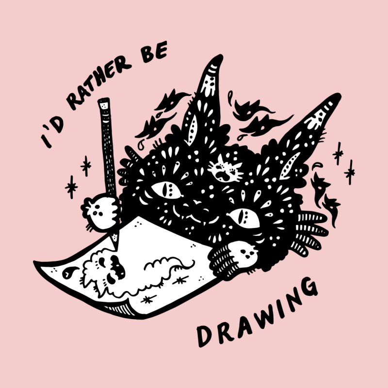 I'd rather be drawing (white background) Women's Scoop Neck by Haypeep's Artist Shop