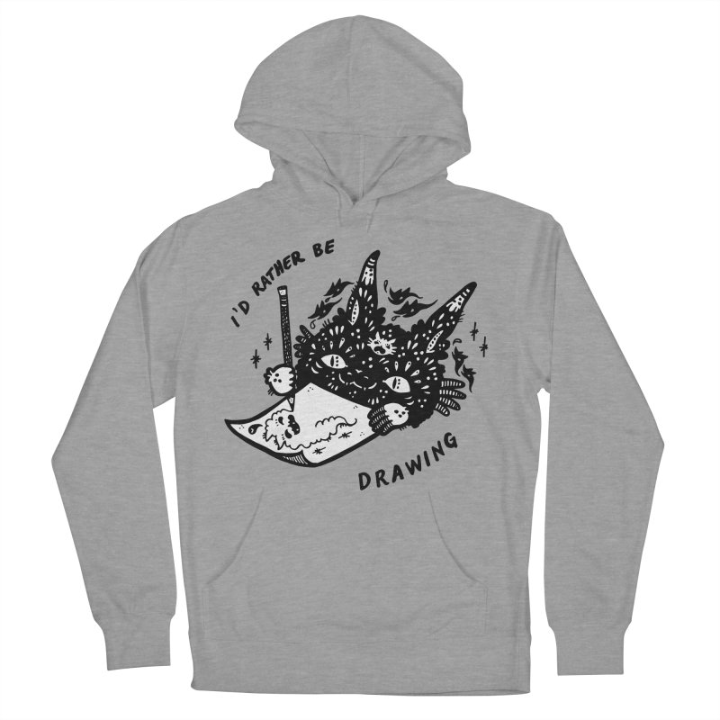 I'd rather be drawing (white background) Women's Pullover Hoody by Haypeep's Artist Shop