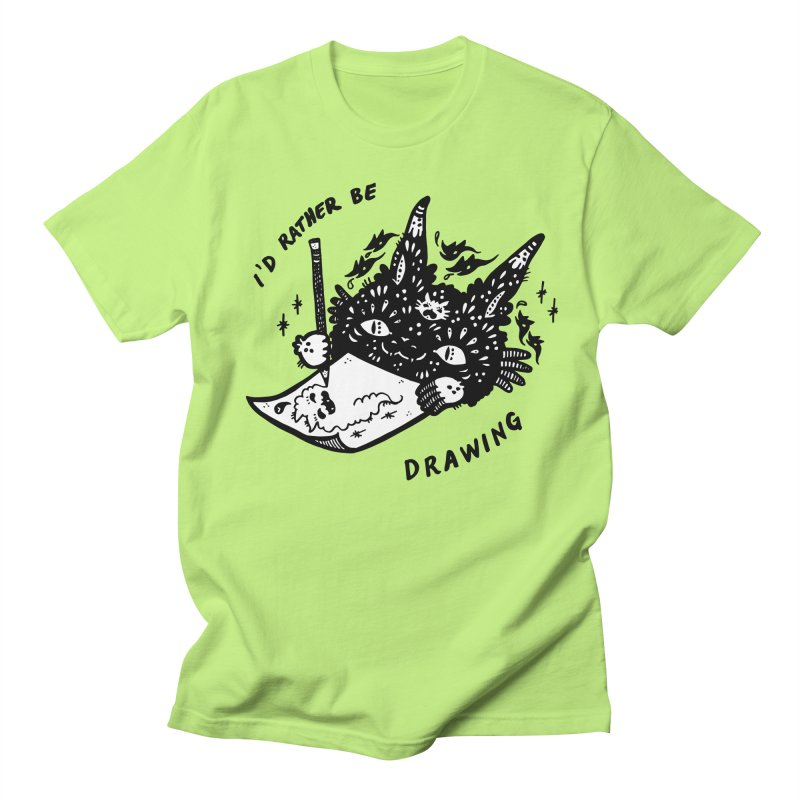 I'd rather be drawing (white background) Men's T-Shirt by Haypeep's Artist Shop