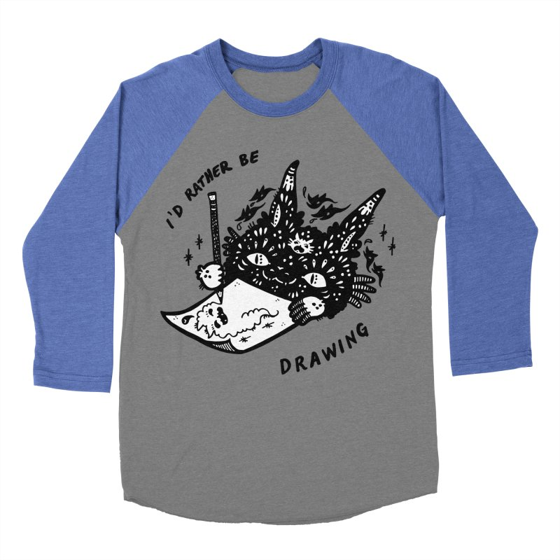 I'd rather be drawing (white background) Men's Longsleeve T-Shirt by Haypeep's Artist Shop