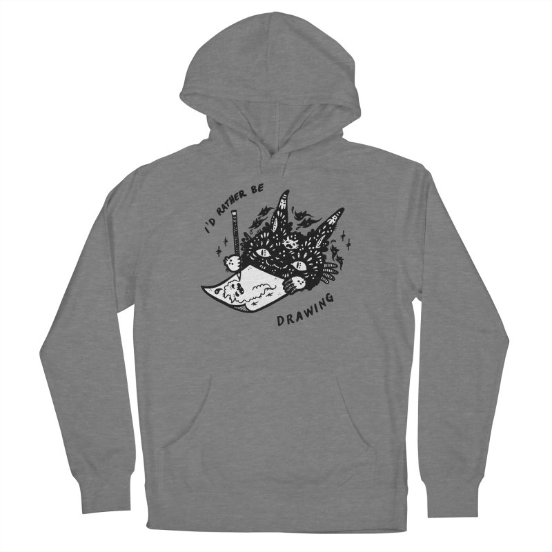 I'd rather be drawing (white background) Men's French Terry Pullover Hoody by Haypeep's Artist Shop