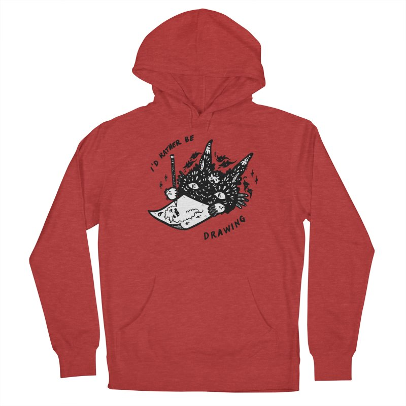 I'd rather be drawing (white background) Men's Pullover Hoody by Haypeep's Artist Shop