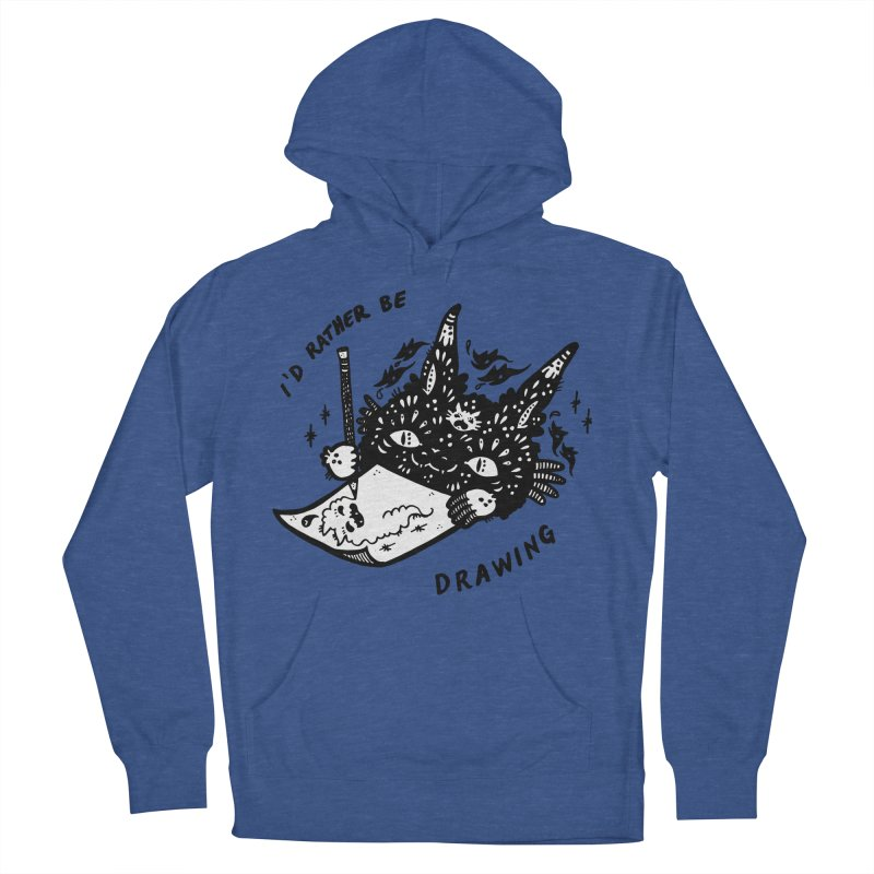 I'd rather be drawing (white background) Women's French Terry Pullover Hoody by Haypeep's Artist Shop