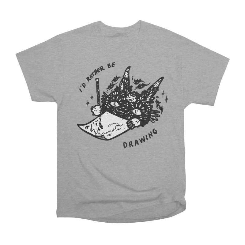 I'd rather be drawing (white background) Men's Heavyweight T-Shirt by Haypeep's Artist Shop