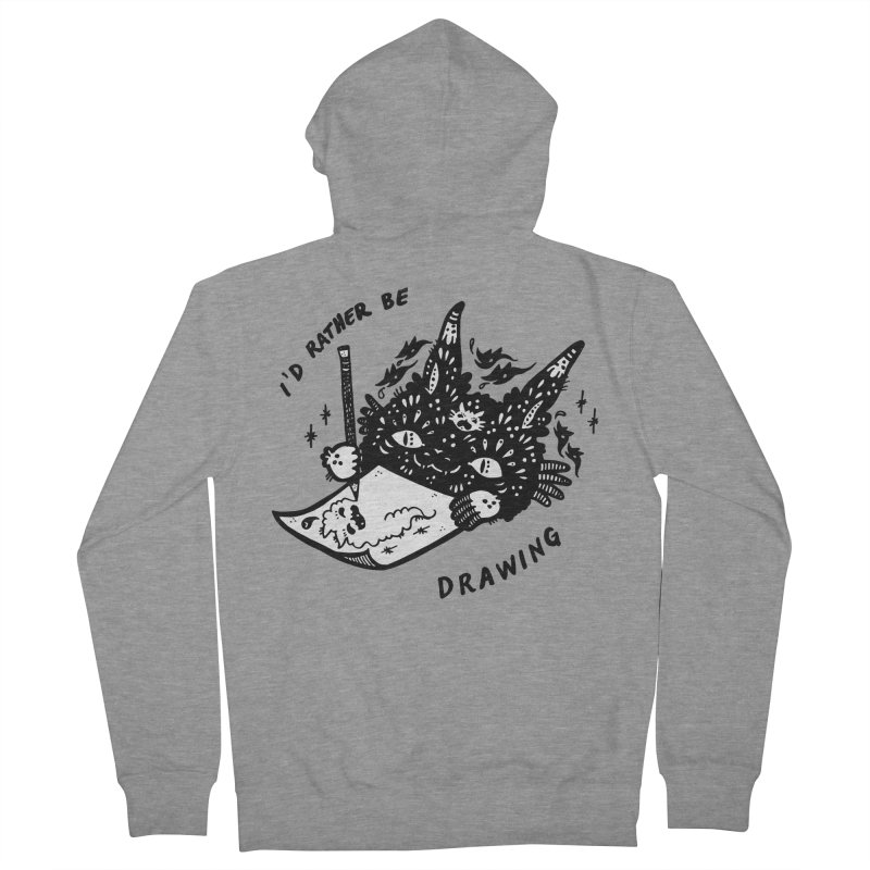 I'd rather be drawing (white background) Men's Zip-Up Hoody by Haypeep's Artist Shop
