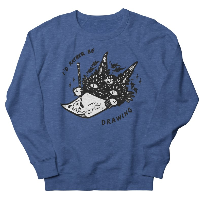 I'd rather be drawing (white background) Men's French Terry Sweatshirt by Haypeep's Artist Shop