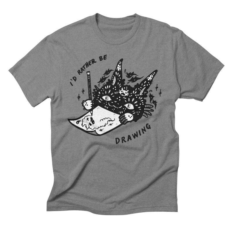 I'd rather be drawing (white background) Men's Triblend T-Shirt by Haypeep's Artist Shop
