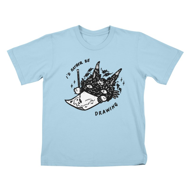 I'd rather be drawing (white background) Kids T-Shirt by Haypeep's Artist Shop