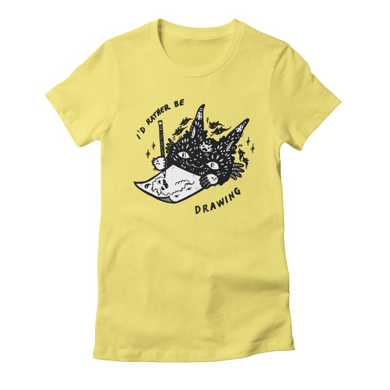 I'd rather be drawing (white background) Women's T-Shirt by Haypeep's Artist Shop