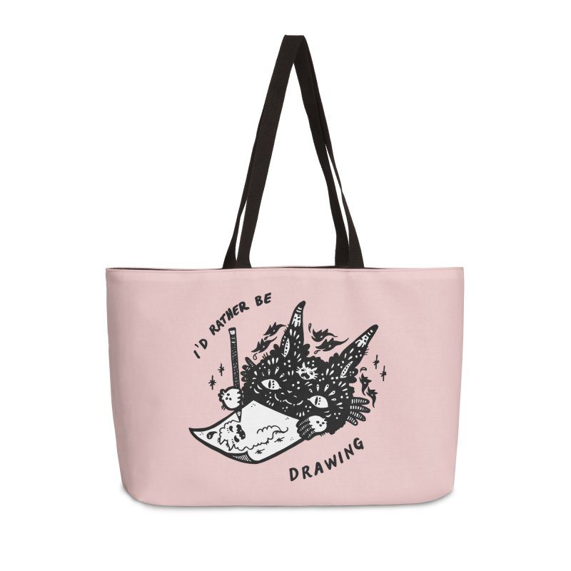 I'd rather be drawing (white background) Accessories Weekender Bag Bag by Haypeep's Artist Shop