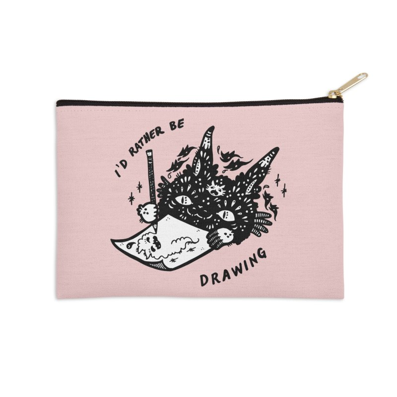 I'd rather be drawing (white background) Accessories Zip Pouch by Haypeep's Artist Shop