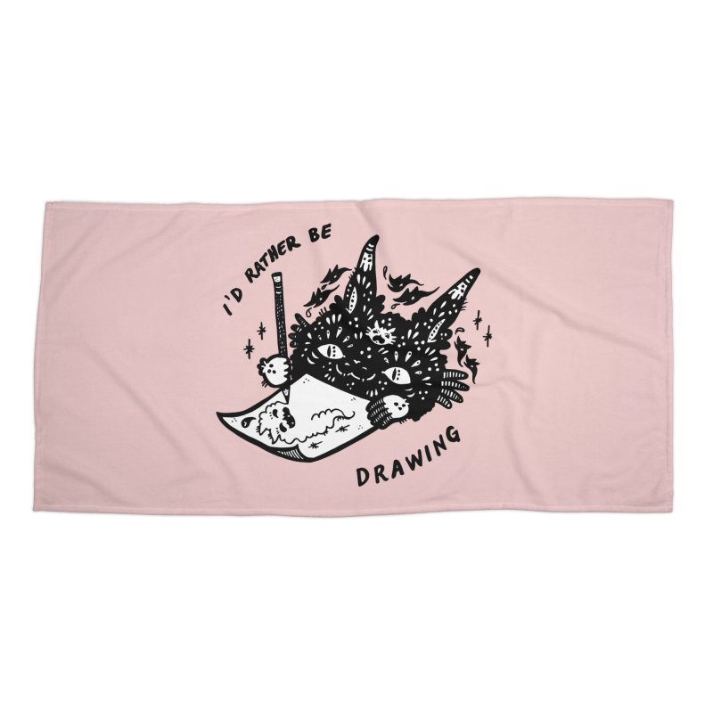 I'd rather be drawing (white background) Accessories Beach Towel by Haypeep's Artist Shop