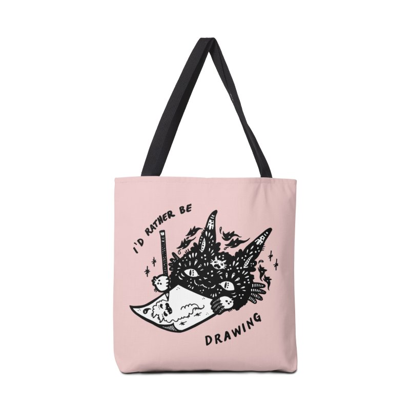 I'd rather be drawing (white background) Accessories Bag by Haypeep's Artist Shop