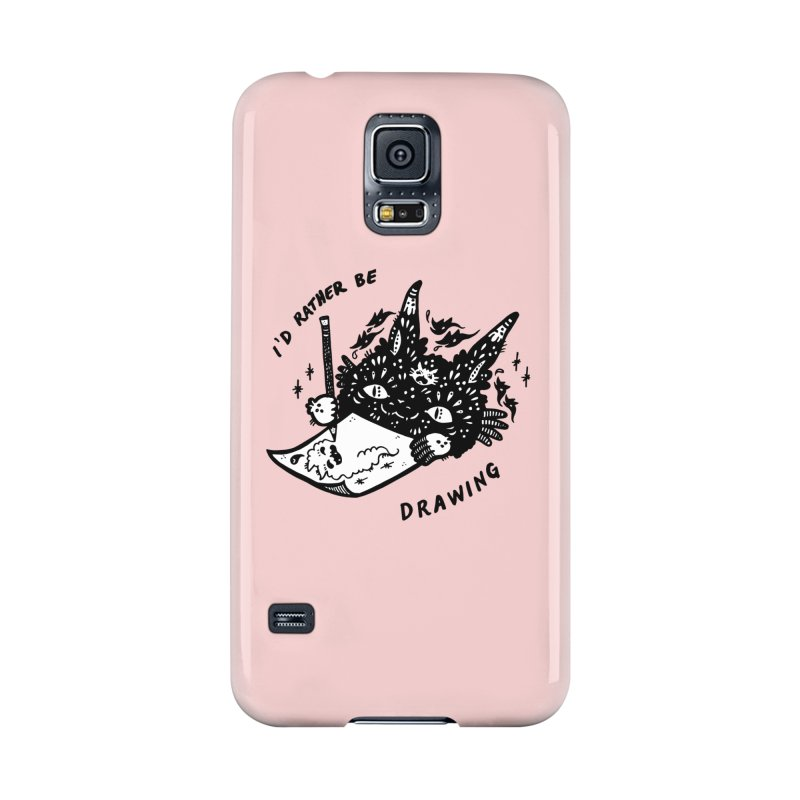 I'd rather be drawing (white background) Accessories Phone Case by Haypeep's Artist Shop