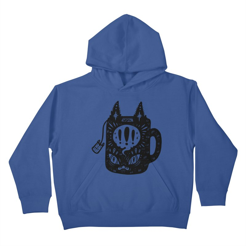Mug of Tea Kids Pullover Hoody by Haypeep's Artist Shop