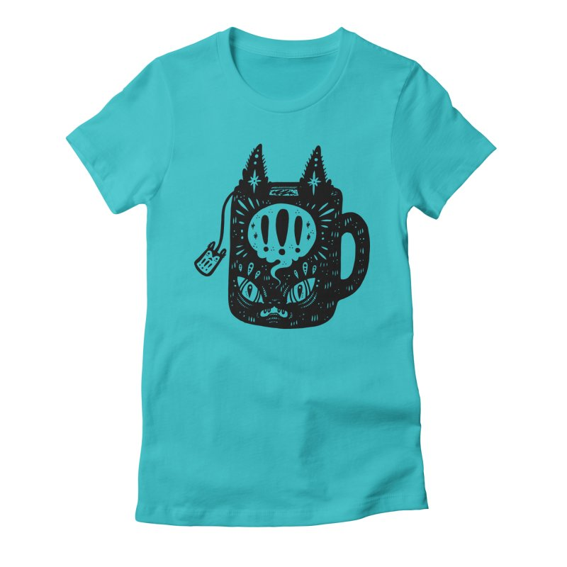 Mug of Tea Women's Fitted T-Shirt by Haypeep's Artist Shop