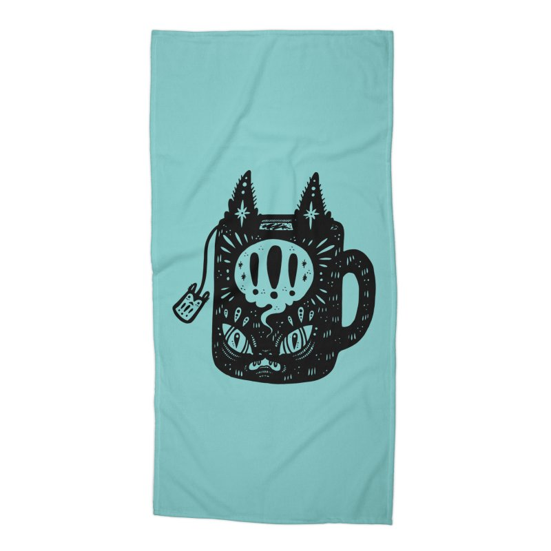 Mug of Tea Accessories Beach Towel by Haypeep's Artist Shop