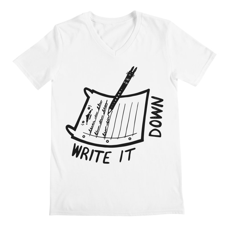 Write It Down Men's V-Neck by Haypeep's Artist Shop