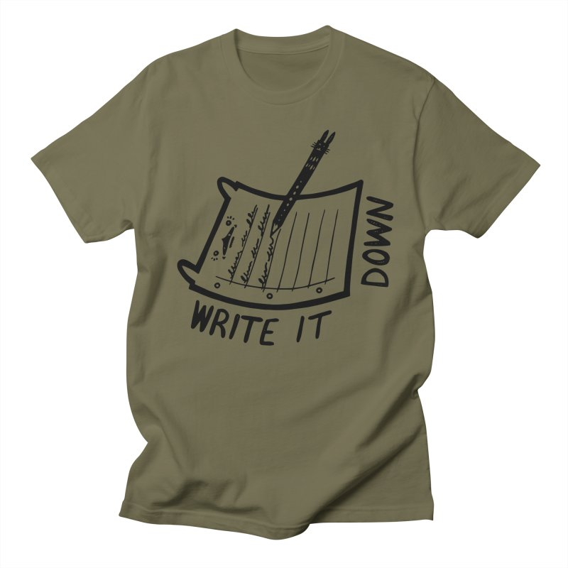 Write It Down Men's Regular T-Shirt by Haypeep's Artist Shop