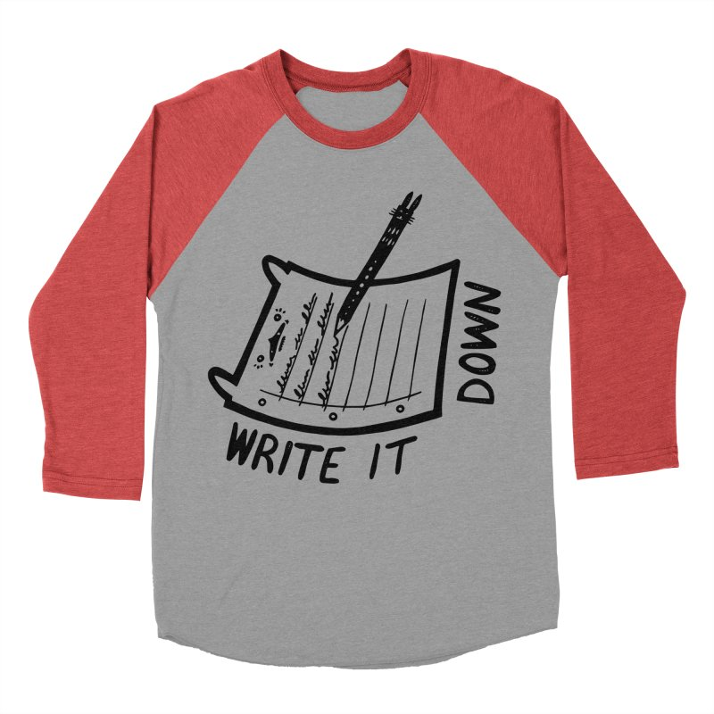 Write It Down Men's Longsleeve T-Shirt by Haypeep's Artist Shop