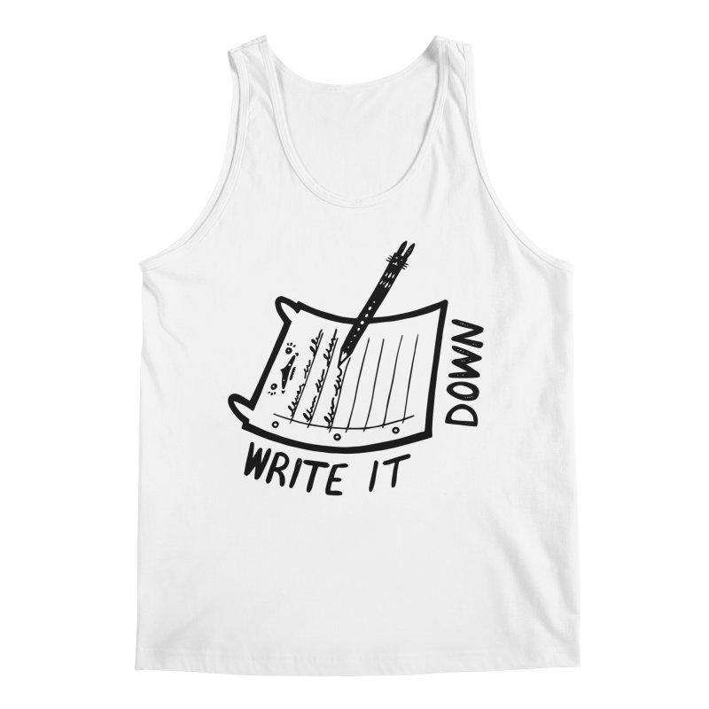 Write It Down Men's Regular Tank by Haypeep's Artist Shop