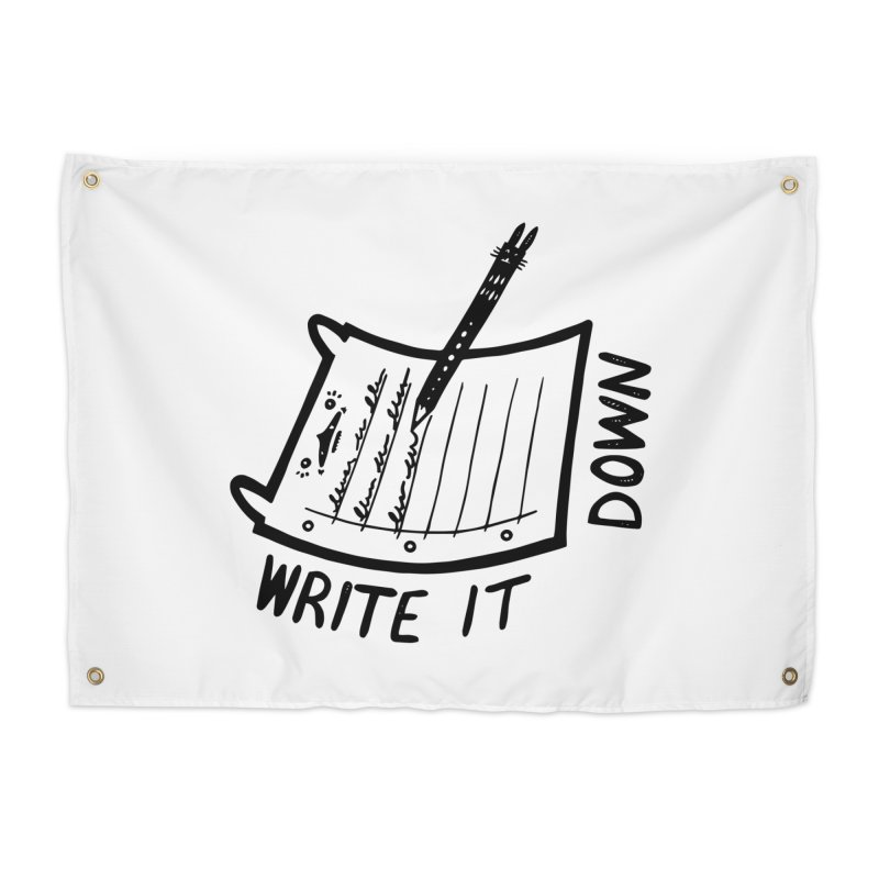 Write It Down Home Tapestry by Haypeep's Artist Shop