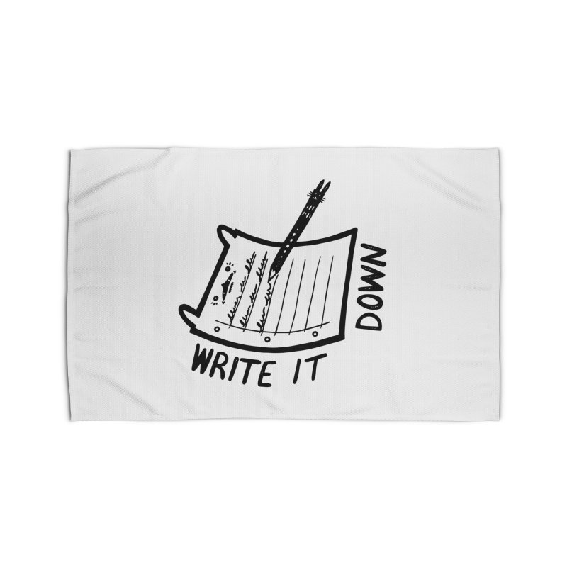 Write It Down Home Rug by Haypeep's Artist Shop