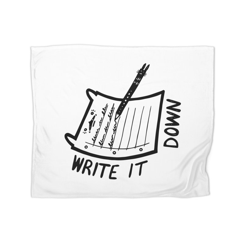 Write It Down Home Blanket by Haypeep's Artist Shop