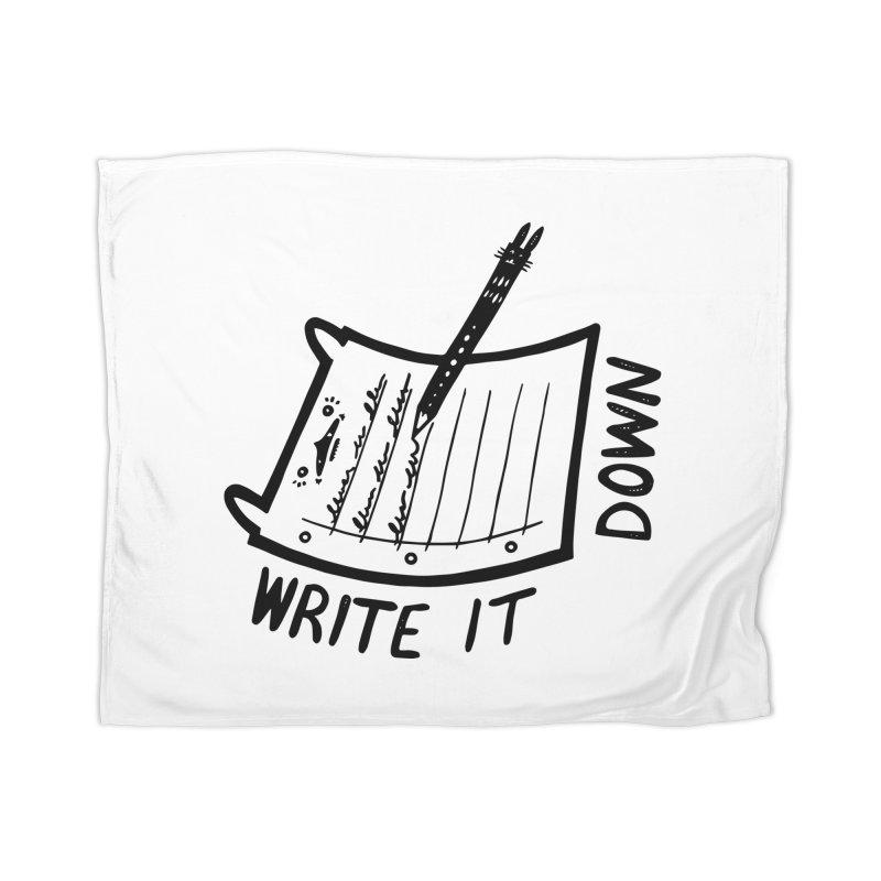 Write It Down Home Blanket by Haypeep's Artist Shop