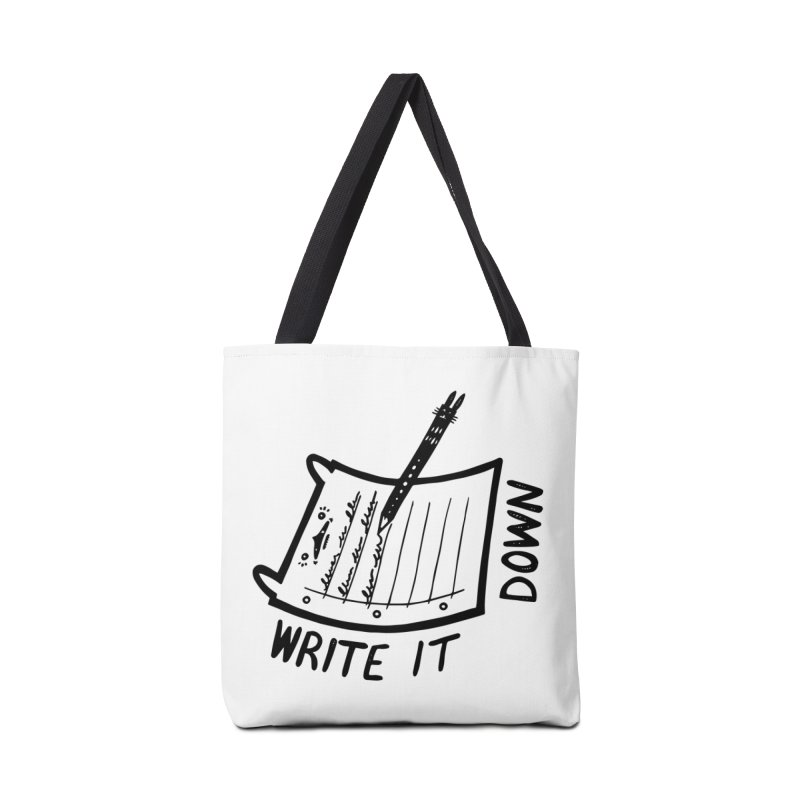 Write It Down Accessories Tote Bag Bag by Haypeep's Artist Shop