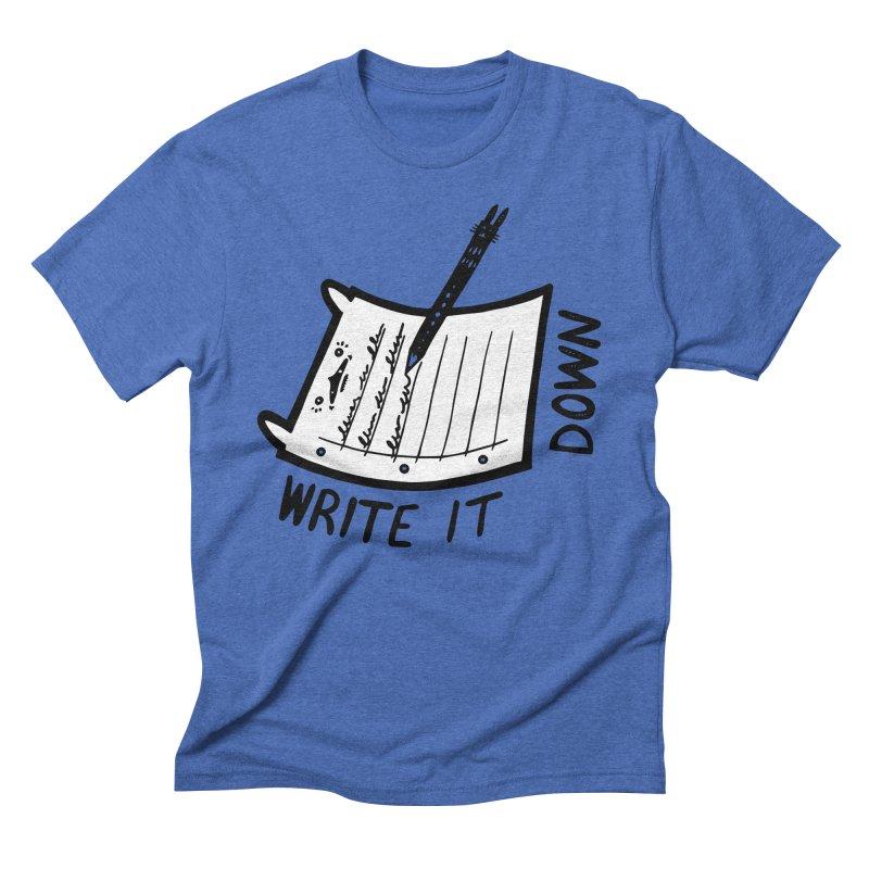 Write It Down (White BG) Men's T-Shirt by Haypeep's Artist Shop