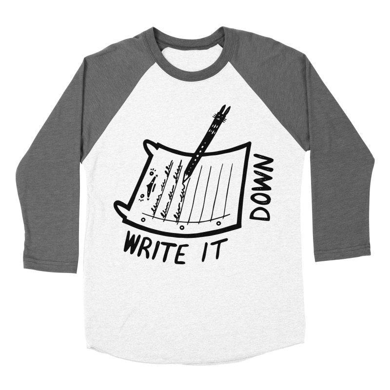 Write It Down (White BG) Women's Longsleeve T-Shirt by Haypeep's Artist Shop