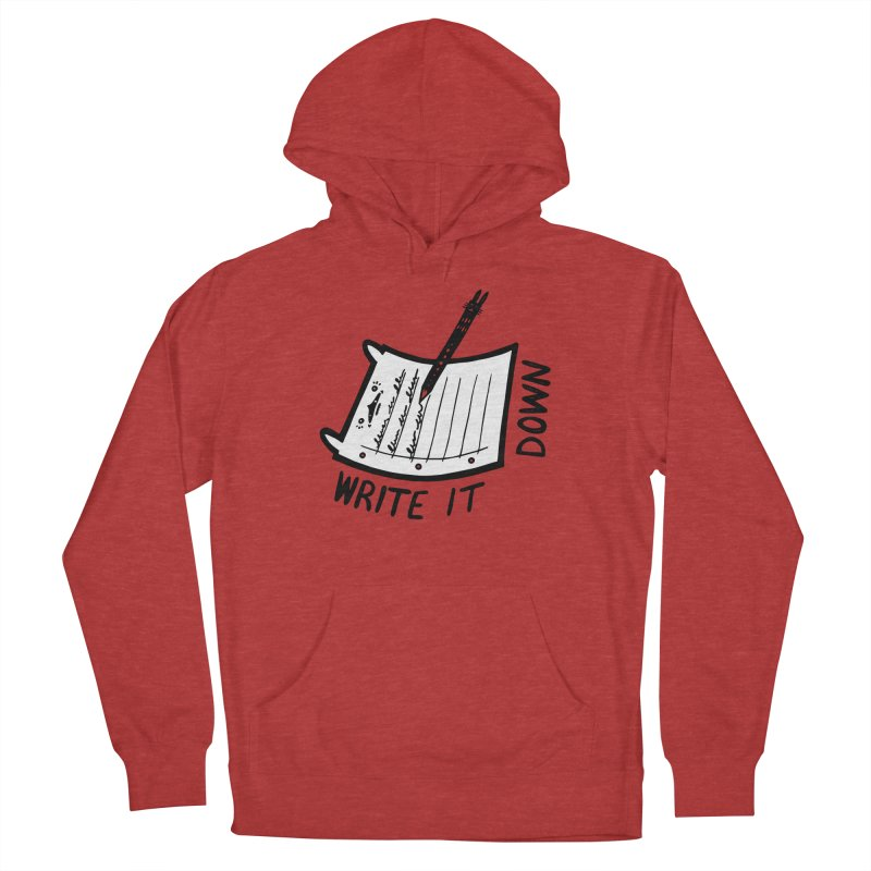 Write It Down (White BG) Men's French Terry Pullover Hoody by Haypeep's Artist Shop