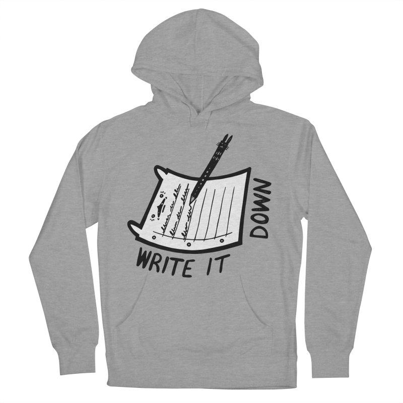 Write It Down (White BG) Women's Pullover Hoody by Haypeep's Artist Shop