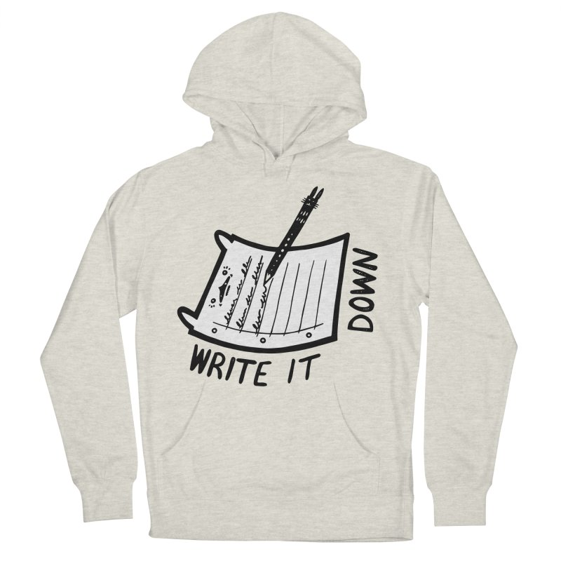 Write It Down (White BG) Men's Pullover Hoody by Haypeep's Artist Shop