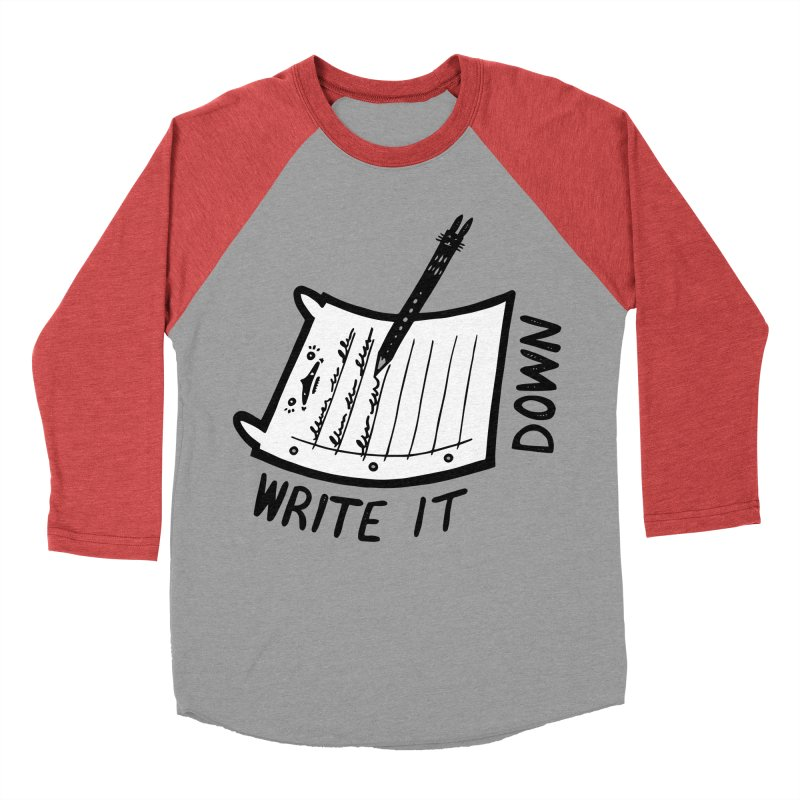 Write It Down (White BG) Men's Longsleeve T-Shirt by Haypeep's Artist Shop
