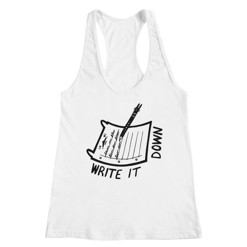 Write It Down (White BG) Women's Tank by Haypeep's Artist Shop