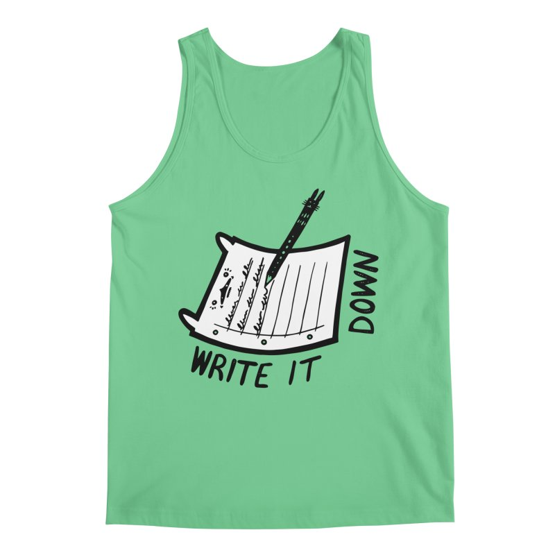 Write It Down (White BG) Men's Regular Tank by Haypeep's Artist Shop