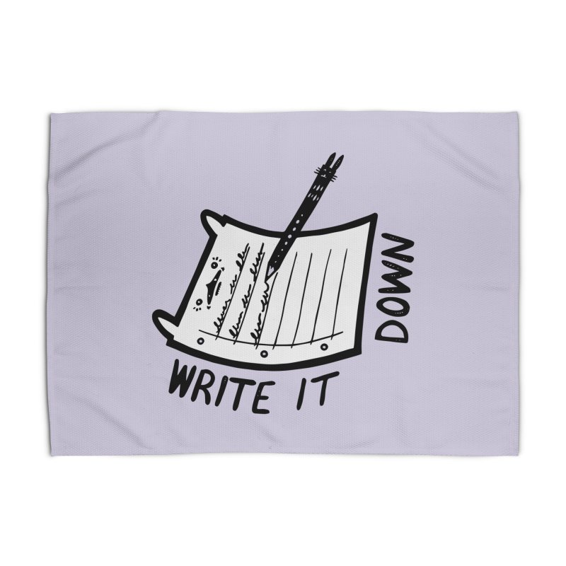 Write It Down (White BG) Home Rug by Haypeep's Artist Shop