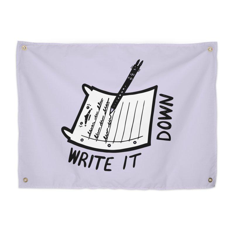 Write It Down (White BG) Home Tapestry by Haypeep's Artist Shop