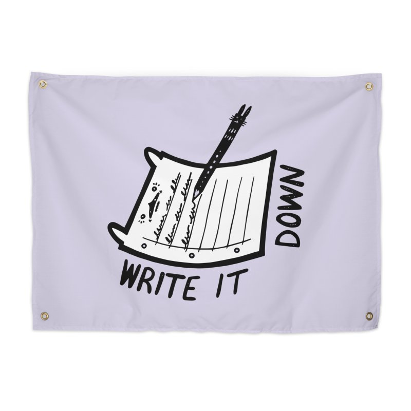 Write It Down (White BG) Home Tapestry by Haypeep's Artist Shop