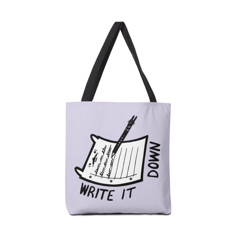 Write It Down (White BG) Accessories Bag by Haypeep's Artist Shop