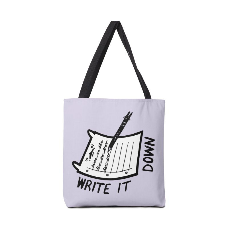 Write It Down (White BG) Accessories Tote Bag Bag by Haypeep's Artist Shop