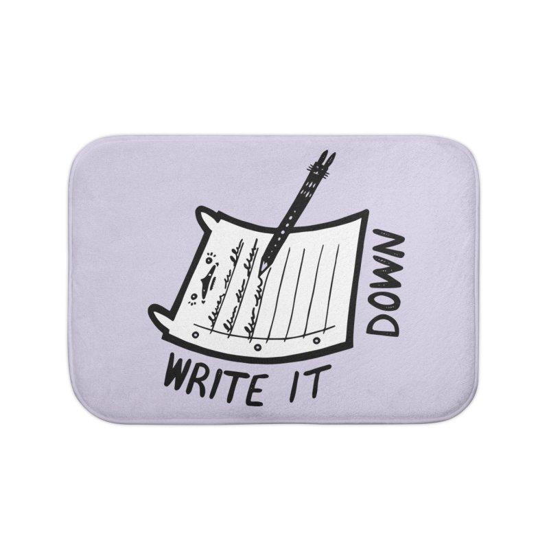 Write It Down (White BG) Home Bath Mat by Haypeep's Artist Shop