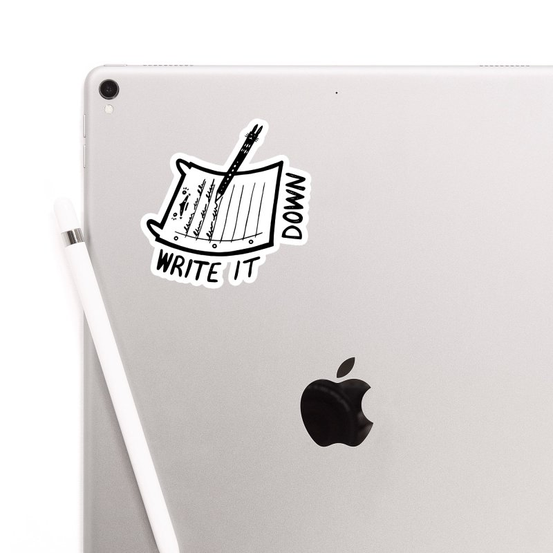 Write It Down (White BG) Accessories Sticker by Haypeep's Artist Shop